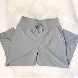 Lululemon Athletica • Cropped Gray Windpants Sz 4